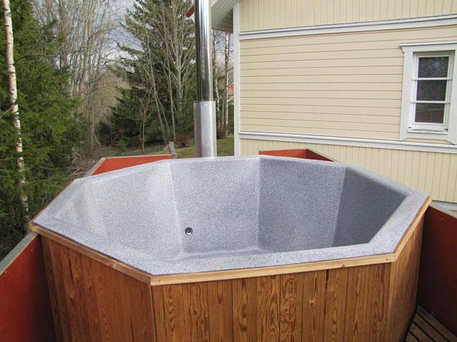 badtunna rostfritt stål